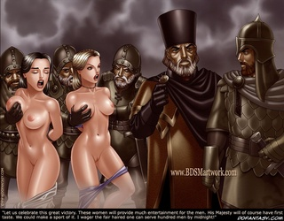 Bdsm cartoons. These women will provide much entertaiment for the men.