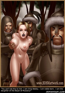 Bdsm art toons. The Mongols captured the princess and give joy to his soldiers.