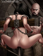 Bdsm art toons. A guy likes rough sex, he tied the…