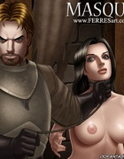 Submission comics. Warrior resulted in locking her naked slave.