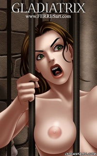 Sex slave comics. Sexy chicks were put in a cage for the future of fun.