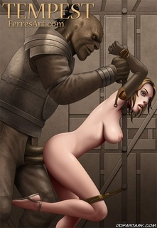 Slave cartoons. Busty anime chicks in prison and humiliated.