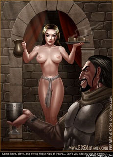Horror comics. Come here, slave, and swing those hips of yours.. Can't you see my cup empty?