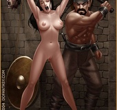 Horror comics. Come here, slave, and swing those…
