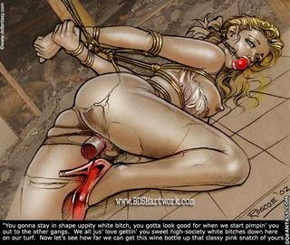 Bondage cartoons. That's the spirit, slut.
