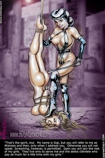 Bondage cartoons. That's the spirit, slut.