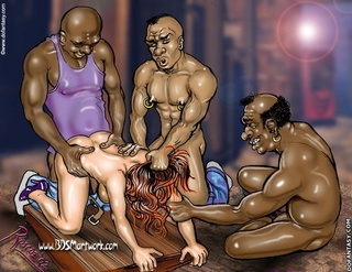 Slave girl comics. Man pulls on a beautiful pussy and he catches them, and associates.