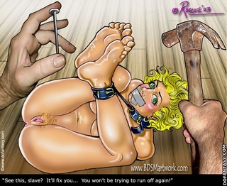 Free bdsm comics. See this, slave? It'll fix you... You won't be trying to run off again!