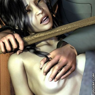 Bondage art. They are a pleasure to strangle his captive.