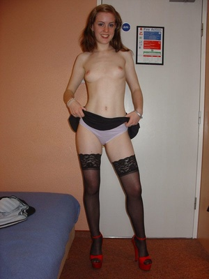 Real amateur young milf undressed and gets her snatch licked. Tags:Stockings, blowjob, homemade, british. - Picture 3