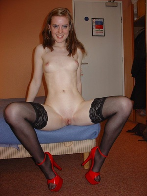 Real amateur young milf undressed and gets her snatch licked. Tags:Stockings, blowjob, homemade, british. - Picture 5