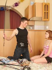 Pretty redhead teen girl tasting war cum after - XXXonXXX - Pic 2