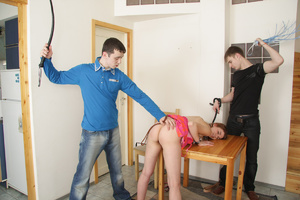 Two guys captured and used redhead teen girl with hice boobs as they want. Tags: Rough sex, bondage sex, pretty face. - XXXonXXX - Pic 8