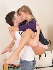 Seductive teen babe with small tits gets leashed - XXXonXXX - Pic 2