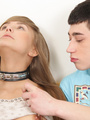 Xxx pics of naked teen beauty on a leash - Picture 4