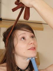 Leashed brunette teen enjoying rock hard pecker in - XXXonXXX - Pic 7