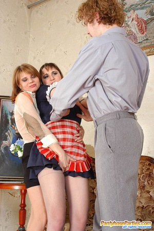 Lewd French maid in control top hose is obsessed with thoughts of group sex - XXXonXXX - Pic 4