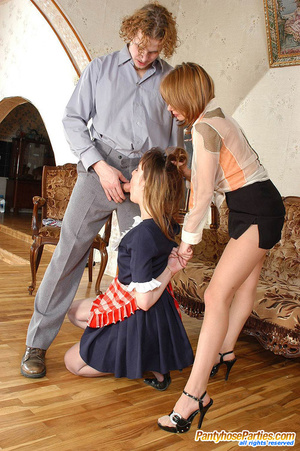 Lewd French maid in control top hose is obsessed with thoughts of group sex - XXXonXXX - Pic 14