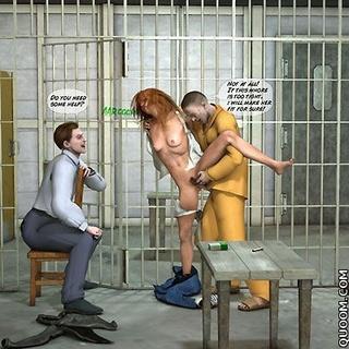 Bdsm comics. Prisoner girl fucked in the police station.