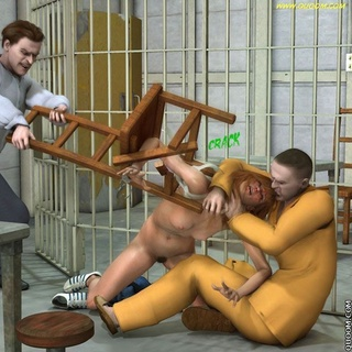Bondage art. An investigator with the prisoners are humiliated and fucked redhead witness.