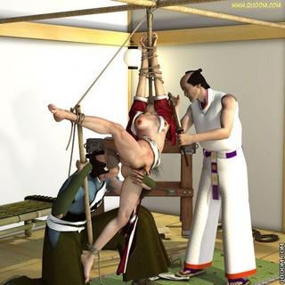 Bdsm art. Japanese samurai love BDSM.