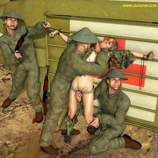 Bondage comics. Over mock prisoner of war and humiliated.