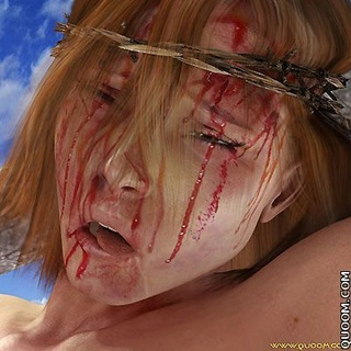 Bdsm comics. Blonde attached to a pole and beaten with a whip.