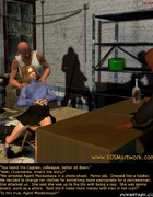 Slave comics. Two criminals violate blone slave girl!
