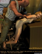 Slave comics. Naked blonde girl tortured in the basement!