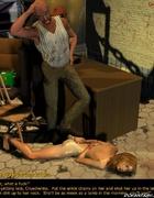 Slave comics. Naked blonde girl tortured in the basement!