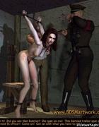Humiliation comics. Tortured naked Gestapo victim!
