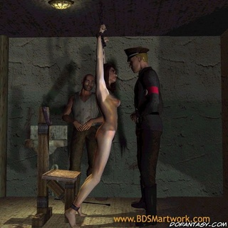 Torture drawings. Gestapos victim gets her ass spanked and pussy fucked!