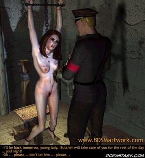 Slave comics. Gestapos torturer gonna fuck his helpless slave girl!
