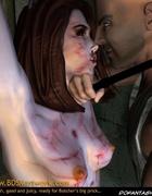 Bdsm art drawings. Gestapos torturer insert his finger in slave girl pussy!