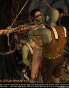 Humiliation comics. Orks impaled elf princess and…