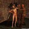 Fetish cartoons. Chained and crucified slave…