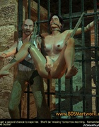 Bondage toons. Girl tied to the door ang gets her…