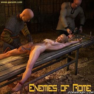 Bdsm art. Poor blonde slave tortured by hot iron!