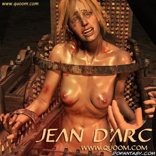Submission art. Blonde girl tied to the chair and gets hot iron on her tit!