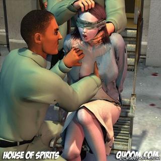 Bdsm comics. Captured girl in handcuffs gets fucked!