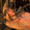 Torture drawings. Blonde girl in iron leash…