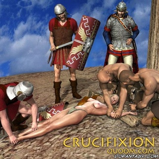 free bdsm  ics roman legionnaires crucified busty slave