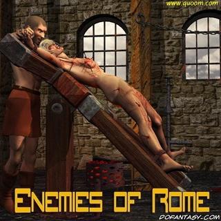 Bdsm art drawings. Romane slaves experience crule tortures!