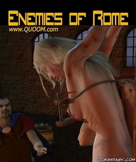 Sado cartoons. Blonde slave girl roped and humiliated by romane legionnaire!