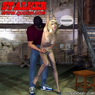 Horror comics. Blonde girl get fucke in basement by masked guy!