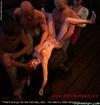 Submission art. Brunette slave girl gang-bangeb by…