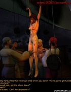 Slave girl. She is now a fuck toy for pirates!