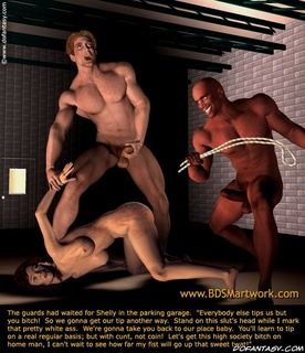 Bondage cartoons. Men tortures girls, and girls torture men!