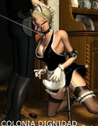Bondage cartoons. Girls in sexy lingerie being punished!