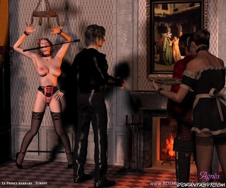 Submission. Young Master inspects his new slave girl!